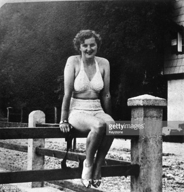 Eva Braun mistress of Adolf Hitler and later his presumed wife