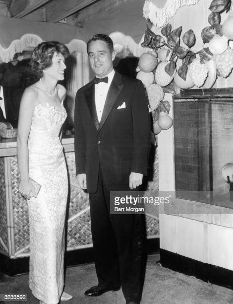 EXCLUSIVE Eunice Kennedy Shriver sister of John F Kennedy and her husband Sargent Shriver attend a party at Coconuts on New Year's Eve Palm Beach...