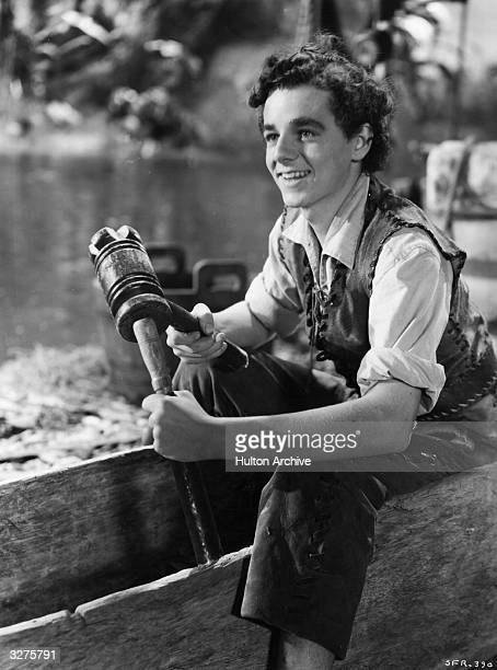 Freddie Bartholomew the stage name of Frederick Llewellyn the British child actor who found fame in Hollywood is getting to grips with woodwork in a...