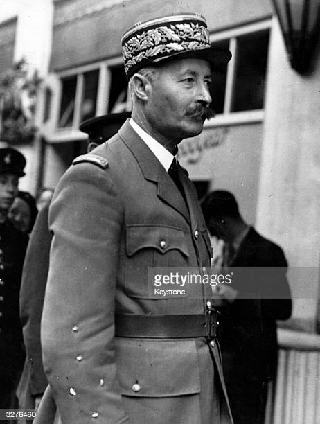 General Henri Giraud arriving at Claridges in London to see Prime Minister Winston Churchill to discuss military matters