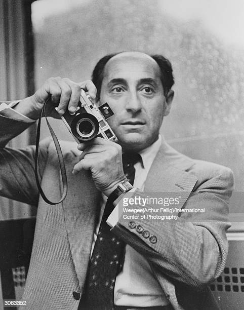 Germanborn American photojournalist Alfred Eisenstaedt who worked for 'Life' magazine for more than 35 years Photo by Weegee/International Center of...