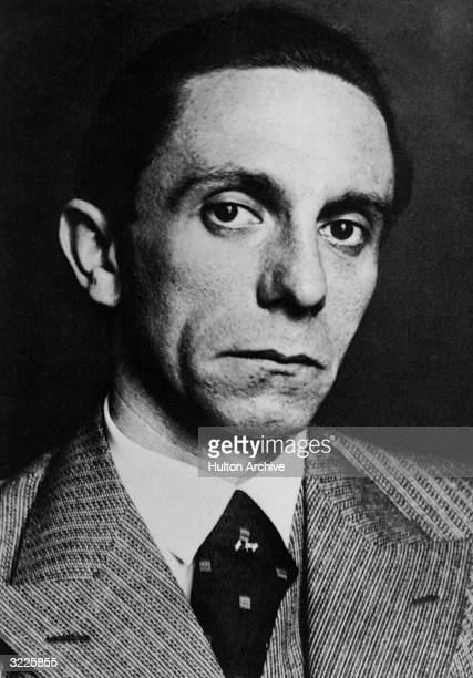 Headshot portrait of Nazi minister of propaganda Joseph Goebbels