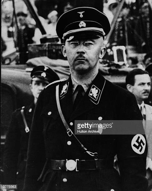Heinrich Himmler chief of the SS and the Gestapo dressed in SS uniform