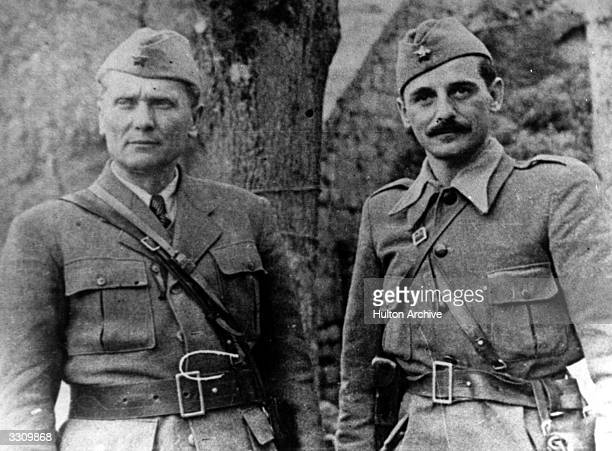 Josip Broz Tito and Koya Popovit Yugoslavian commander of the First Proletarian army during the war