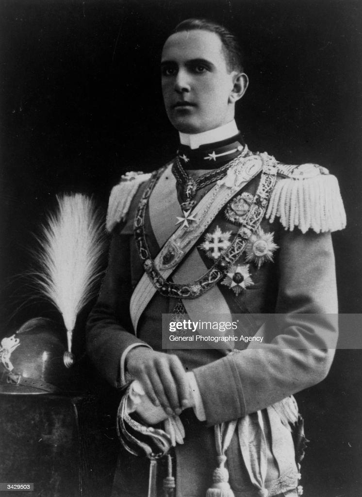 King Umberto II of Italy (1904 - 1983).