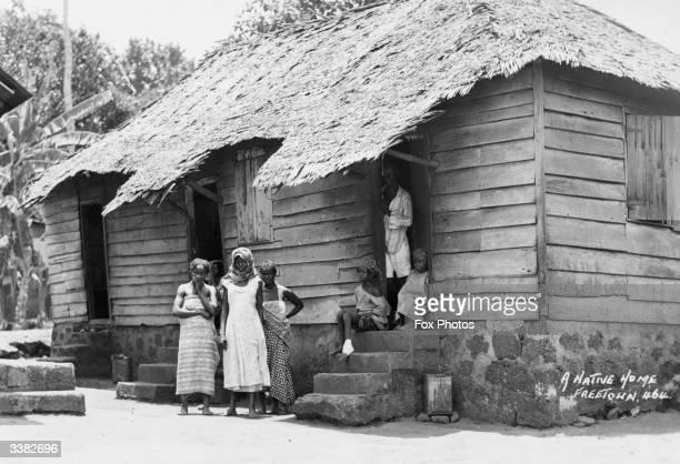 Native home Freetown Sierra Leone West Africa