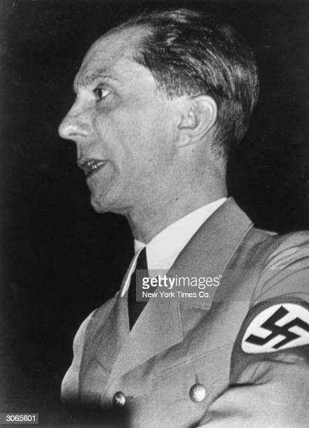 Paul Joseph Goebbels , the Nazi propaganda minister in Hitler's cabinet council.