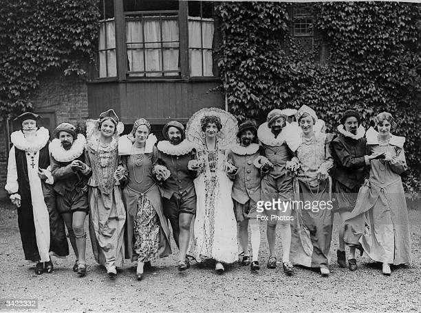 Pupils of Old Palace School Croydon dressed in Elizabethan costume for the pageant they are giving in the grounds of the school once the Croydon...