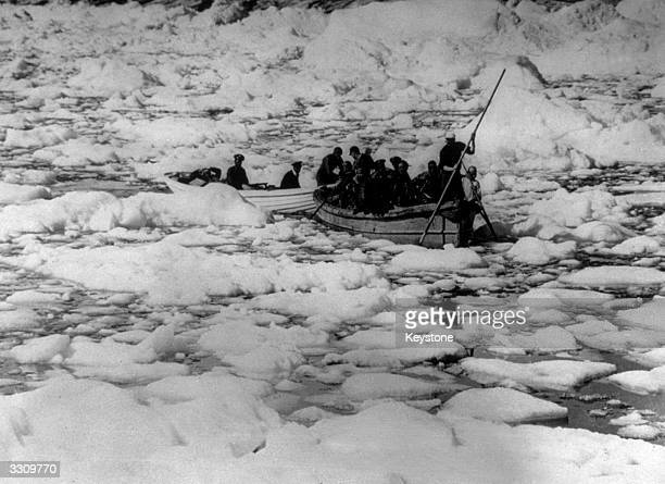 The Coast Guard rescuing US Army pilots who were forced down on the Greenland Ice Cap
