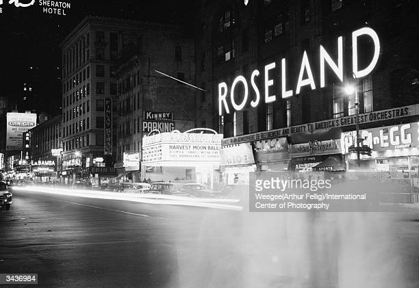 The exterior of Roseland a famous ballroom in Times Square New York Photo by Weegee/International Center of Photography/Getty Images