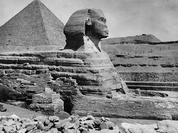 The Great Sphinx statue at Giza, which dates from before...