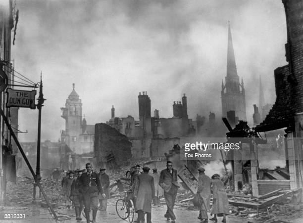 The morning after a bombing raid on Coventry