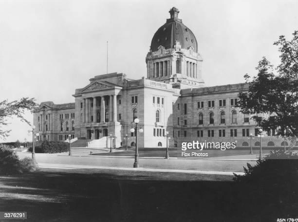The parliament buildings in Regina, Saskatchewan, Canada.