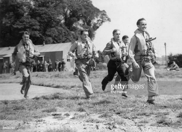 Volunteer American pilots during the Battle of Britain