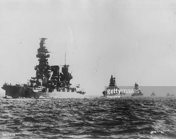 A Japanese battleship squadron led by Battleship Fuso during manoeuvres off Malaya Fuso and Kirisima were built at the beginning of the First World...