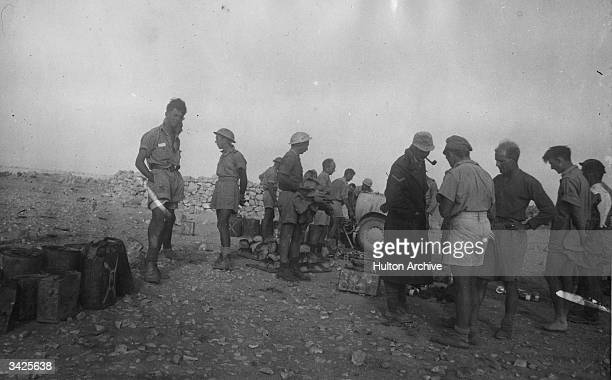 British soldiers in the desert before the fall of Tobruk