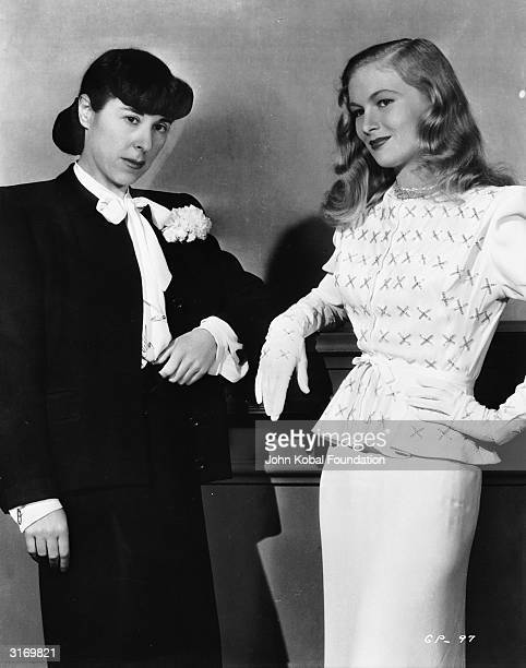 American actress Veronica Lake with legendary Hollywood costume designer Edith Head