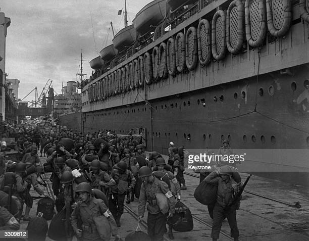 Disembarkation of American troops in Casablanca North Africa