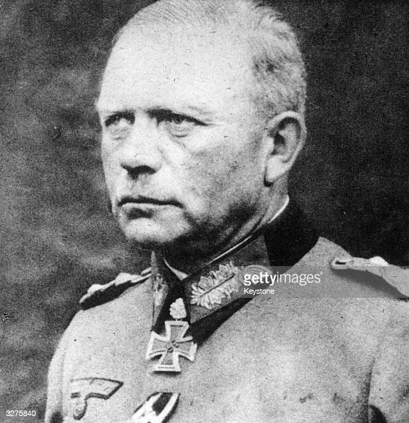 German General Heinz Guderian head of the German tank corps and general chief of staff of the army