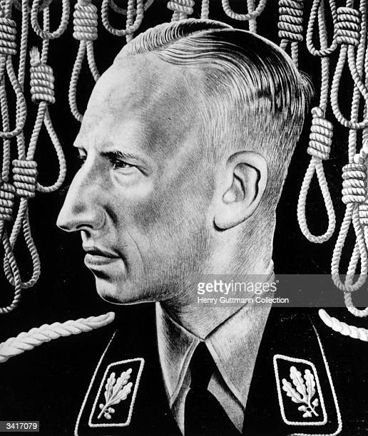 German Gestapo leader Reinhard Heydrich known as 'The Hangman' he was assassinated by Czech partisans and as a reprisal the village of Lidice was...