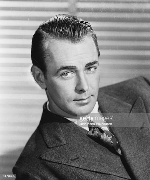 Handsome leading man Alan Ladd who frequently costarred with Veronica Lake