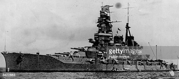 The 29330 ton Japanese battleship Haruna which was bombed by Colin Kelly on the second day of the war He lost his life after scoring three direct...