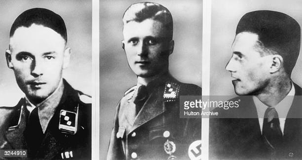Three former aides of Nazi official Adolf Eichmann who were sought by the public prosecutor in Frankfurt Germany January 1961 LR Former SS officers...