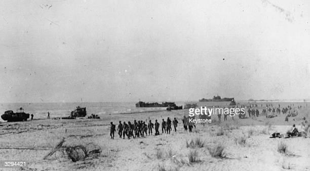 American landing operations on the Italian Mainland near Salerno