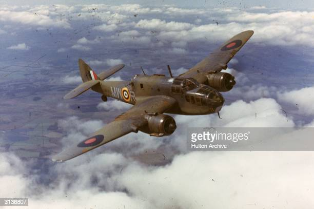 An RAF bomber in flight