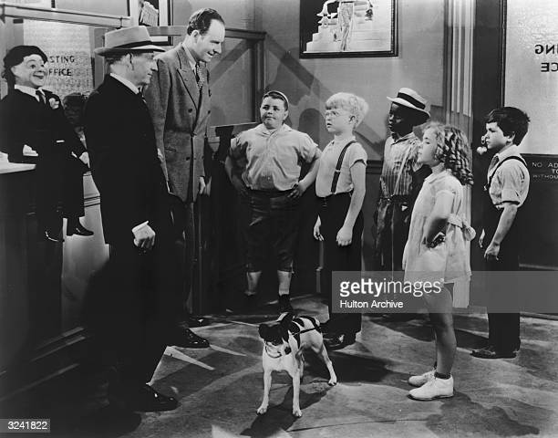 George McFarland as Spanky Billy Laughlin as Froggy Billie Thomas as Buckwheat Janet Burston and Robert Blake as Mickey Gubitosi in a still from 'The...