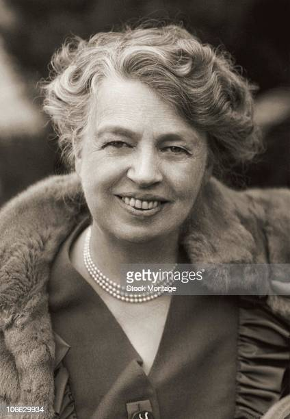 Portrait of Anna Eleanor Roosevelt American author diplomat and humanitarian She was the wife of Franklin D Roosevelt and served as a delegate to the...