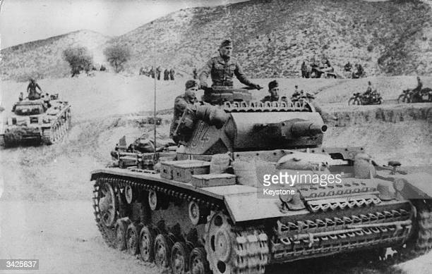 The Nazi army enters Tunisia They were retreating pursued by the victorious 8th Army after the fall of Tripoli in Libya