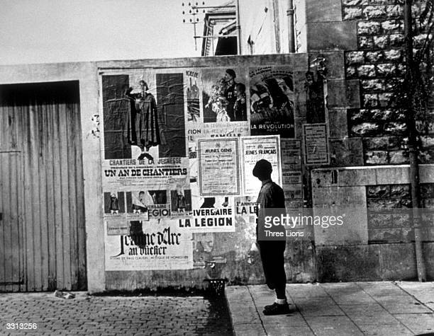 A recruiting station for the Nazi sponsored fascist French Legion at Montpellier