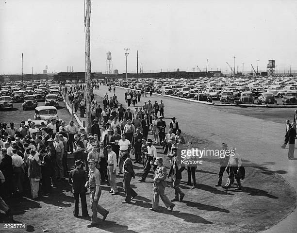 American shipyard workers using a carshare scheme arrive at work