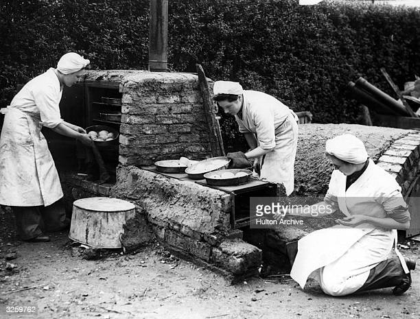 ATS recruits are taught how to set up and run an emergency field kitchen The kitchen can be built from dustbins milk churns and other items of...