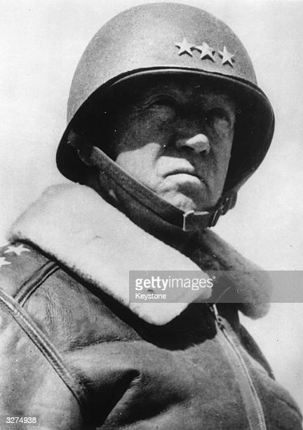 General George Smith Patton also known as 'Old Blood And Guts' an American General in command of the US 7th Army in the Sicilian Campaign and 3rd...