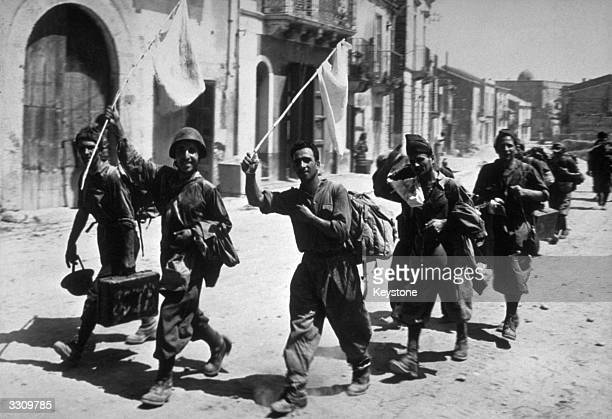Italian soldiers surrender in Sicily to place themselves under the jurisdiction of the Allies