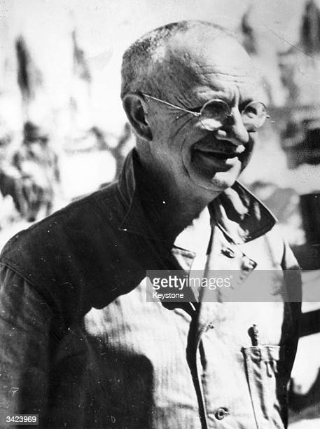 Major General Holland M Smith from the United States Marine Corps who is leading the invasion of the Marshall Islands part of Micronesia