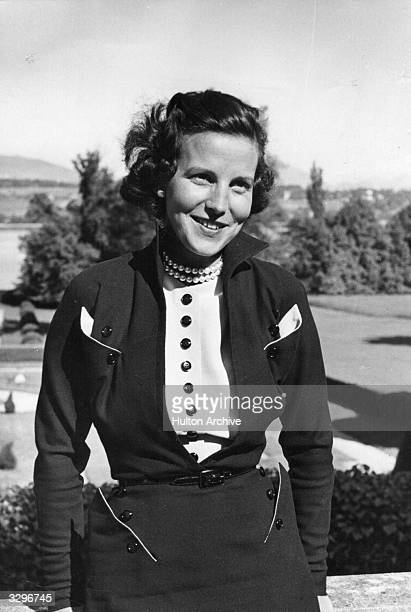 Princess Marie Lilian de Rethy formerly Marie Lilian Baels wife of King Leopold III of Belgium whilst in exile at Pregny Switzerland After their...