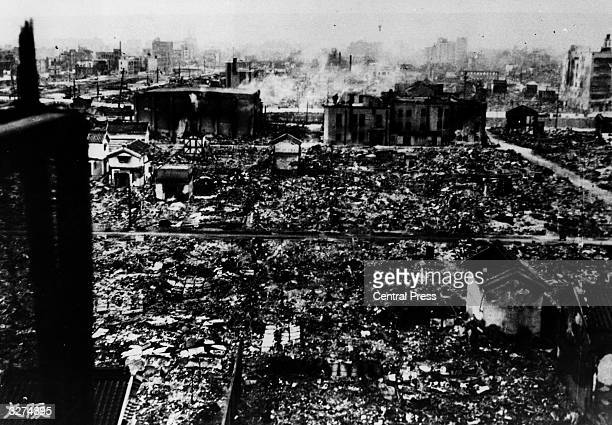 The city of Osaka, after the many air raids of the war.