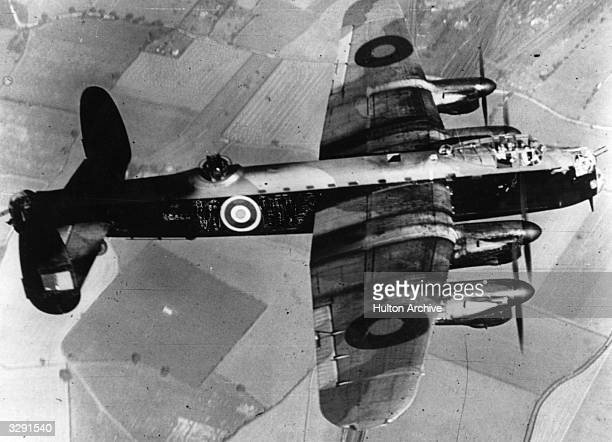 A Royal Air Force Lancaster Bomber in flight