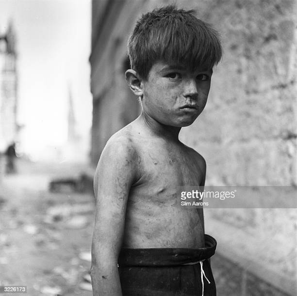 A young Italian boy one of a group of children abandoned or orphaned during World War II The children are known as 'The Treasures Of Italy' and are...