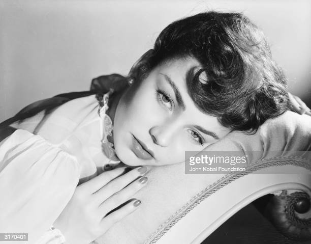American actress Jennifer Jones who was nominated for five Academy Awards and won one the 1944 Best Actress Oscar for 'The Song of Bernadette'