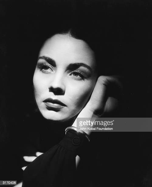 American actress Jennifer Jones with her face surrounded by shadow