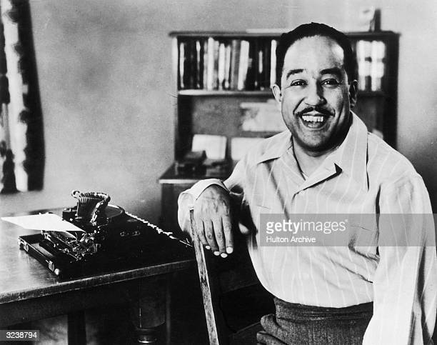 American poet and writer Langston Hughes .