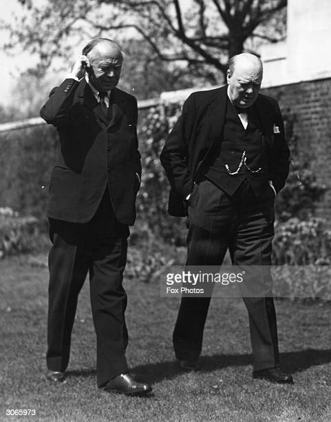 British Prime Minister Winston Churchill with Canadian publisher and politician Lord Beaverbrook, formerly Max Aitken.