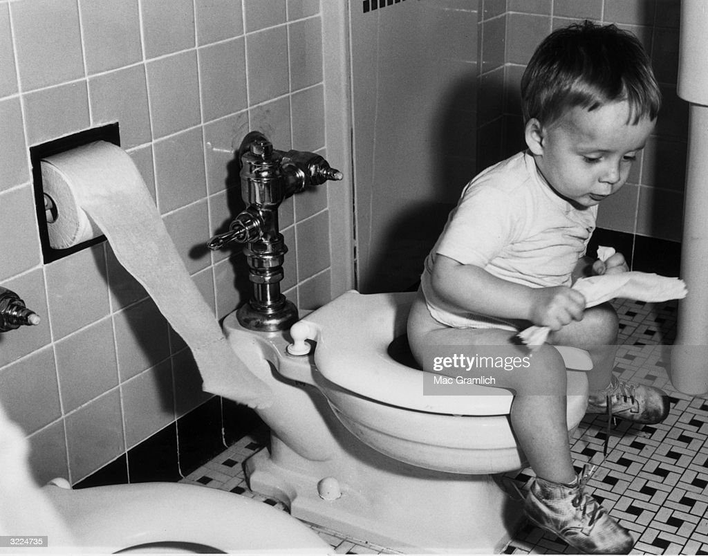 young boy and the toilets Natural Instinct