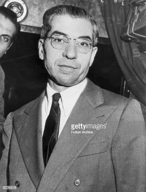 Headshot of Charles 'Lucky' Luciano born Salvatore Luciania in Sicily Italy who immigrated to America and became a Mafia boss