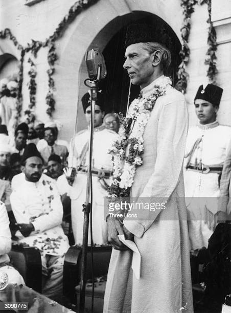 Indian politician Mohammed Ali Jinnah the founding father of Pakistan and its first GovernorGeneral