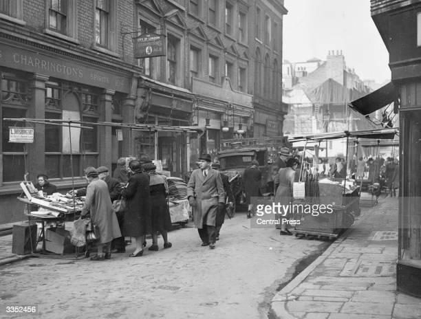 Street stalls at Berwick Street market in Soho London